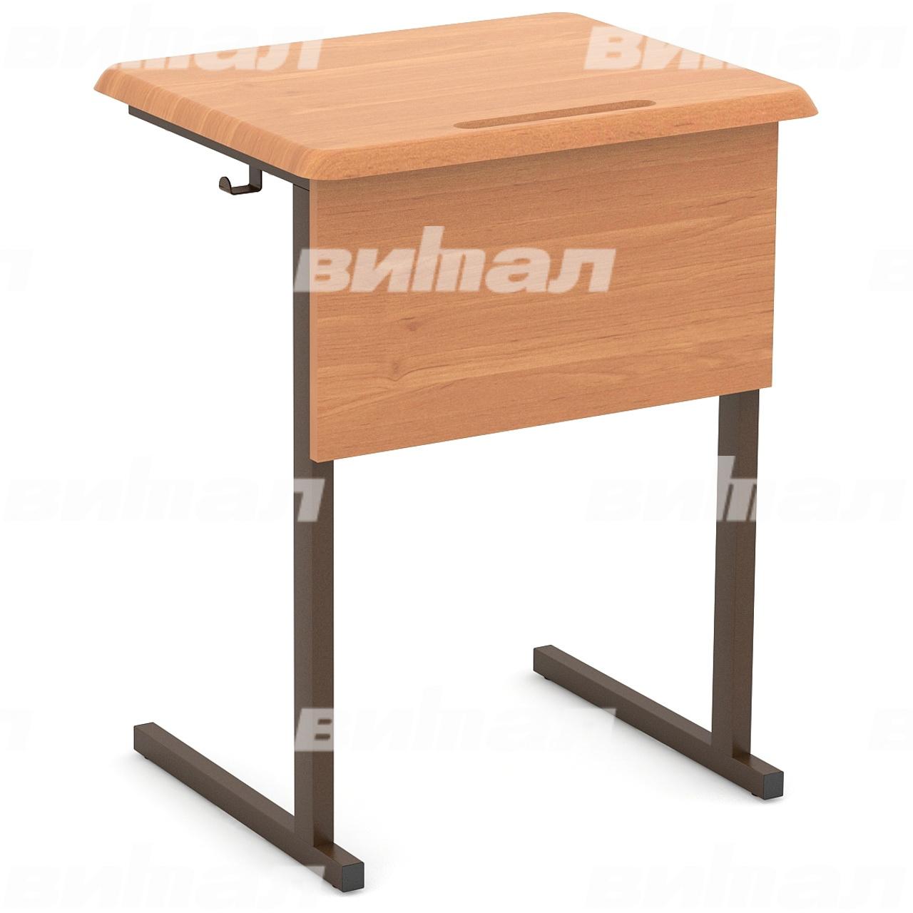 Стол ученический 1-местный нерегулируемый (гр. 3, 4, 5, 6) МДФ коричневый Бук 4 МДФ прямоугольная