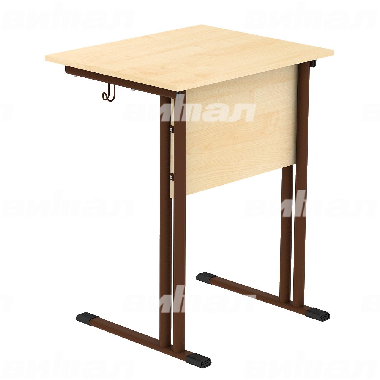 Стол ученический 1-местный (гр. 4,5,6) коричневый Клен 6 Пластик