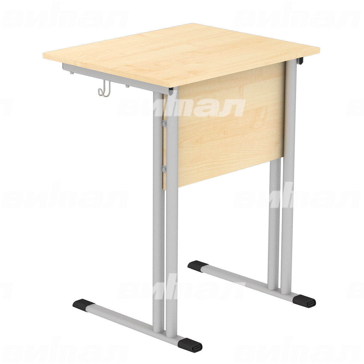 Стол ученический 1-местный (гр. 4,5,6) серый Клен 4 Пластик