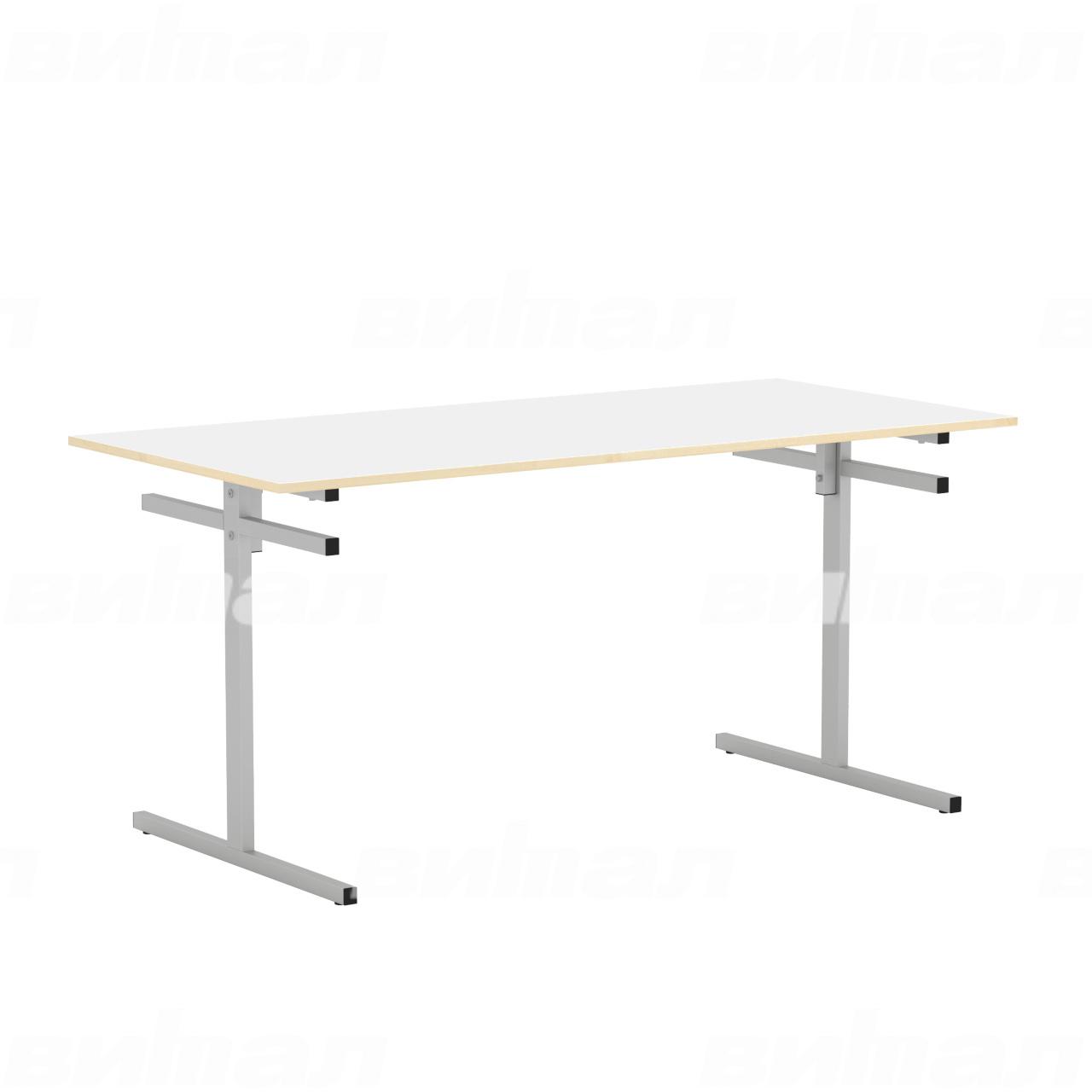 Стол для столовой 6-местный для скамеек (гр. 5,6) серый Белый 6 Пластик