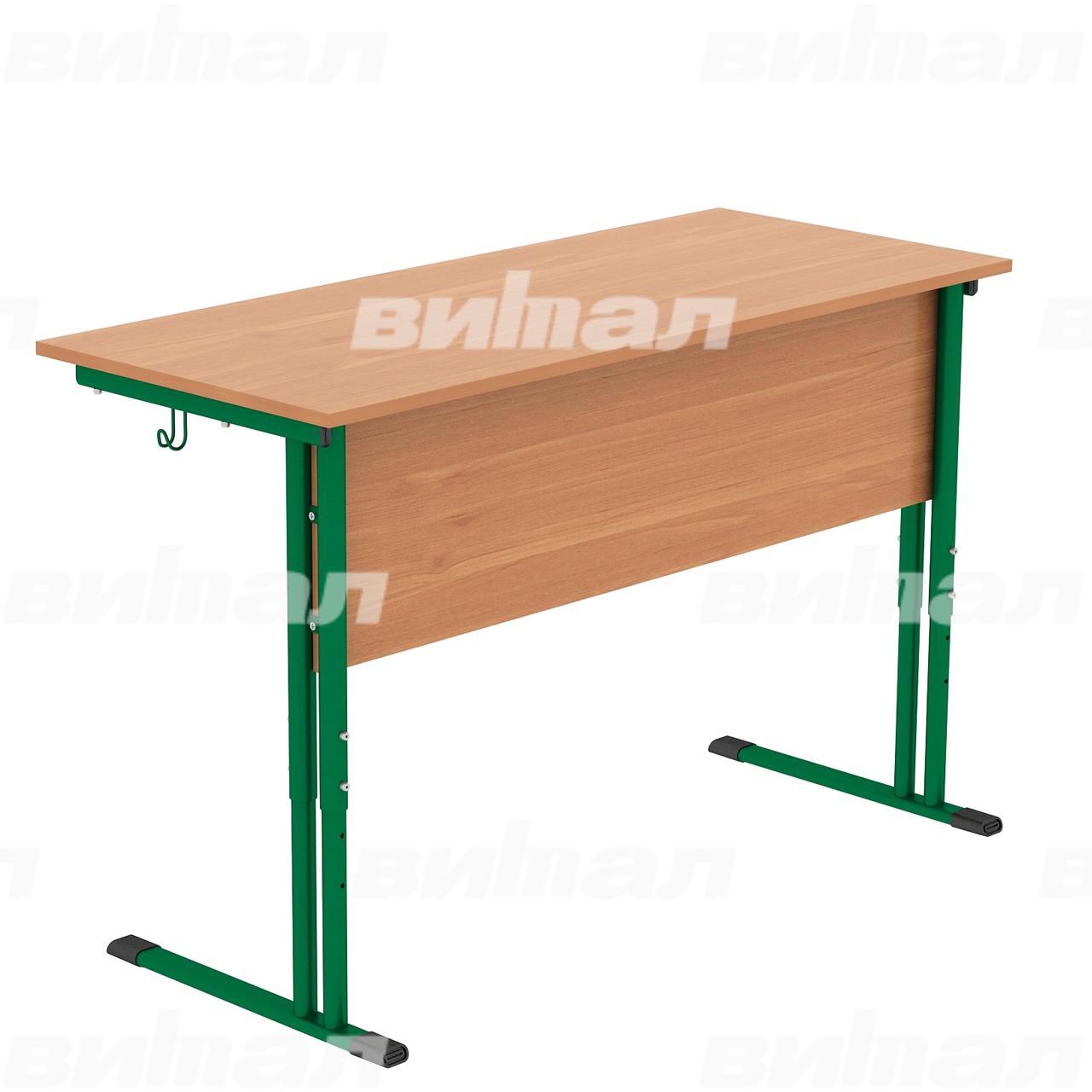 Стол ученический 2-местный регулируемый гр. 4-6 зеленый Ольха 4-6 Меламин