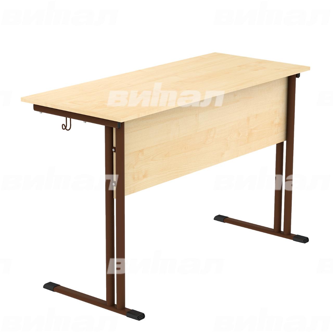 Стол ученический 2-местный (гр. 4,5,6) коричневый Клен 5 Пластик