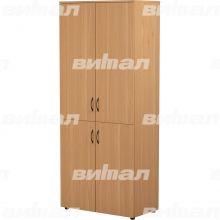 Шкаф широкий закрытый 4-дверный