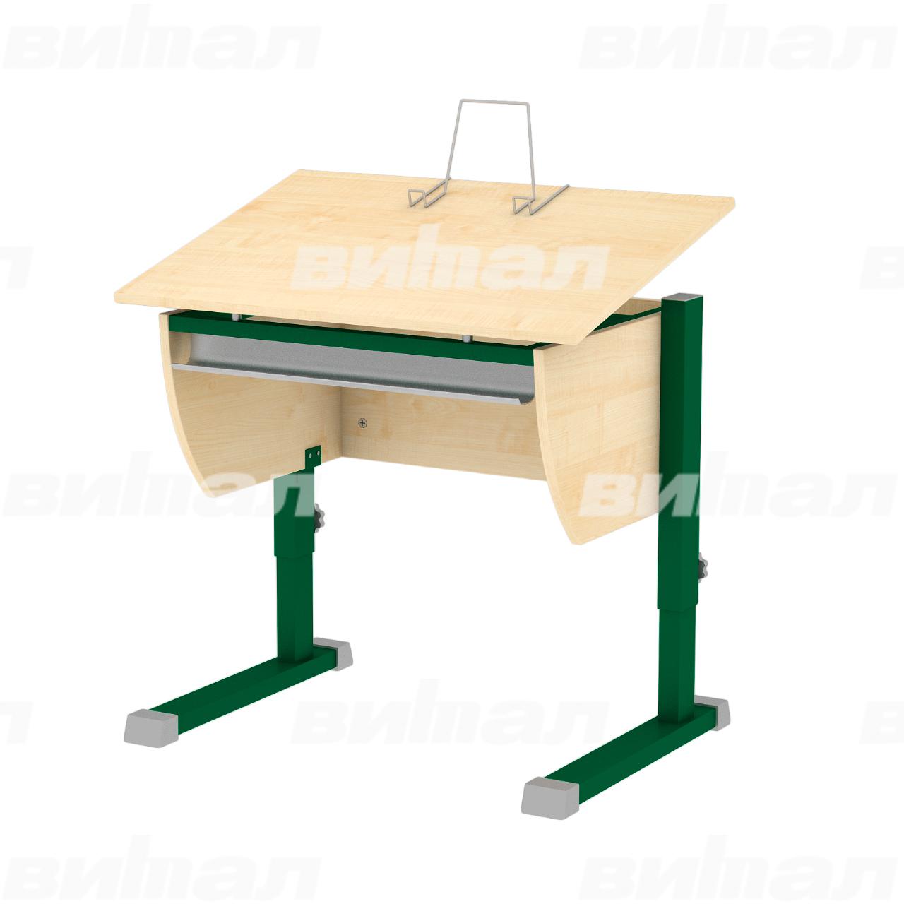Стол ученический «Осанка80» зеленый Клен 2-7 ЛДСП