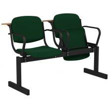2-местный, откидывающиеся сиденья, мягкий, подлокотники, лекционный