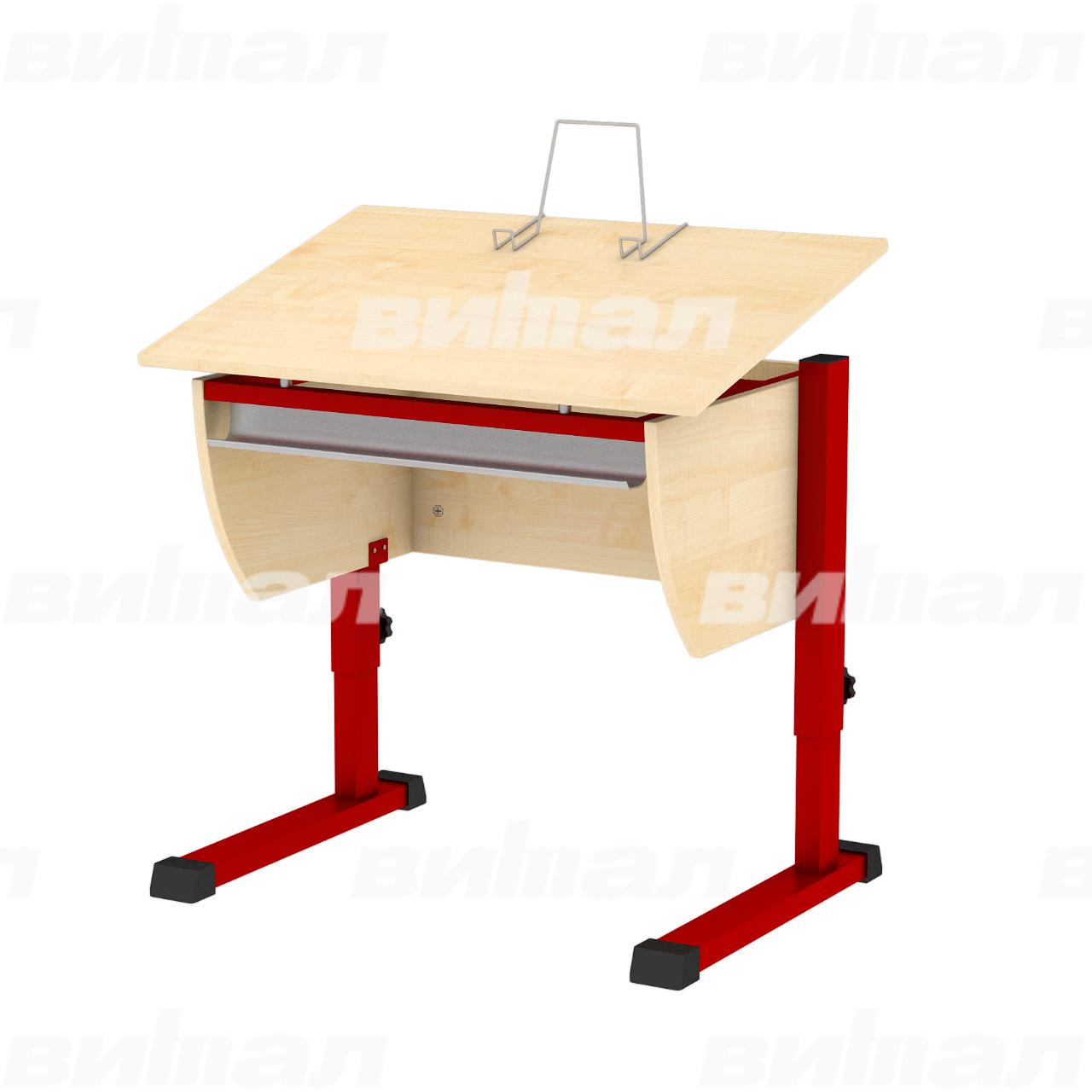 Стол ученический «Осанка80» красный Клен 2-7 ЛДСП