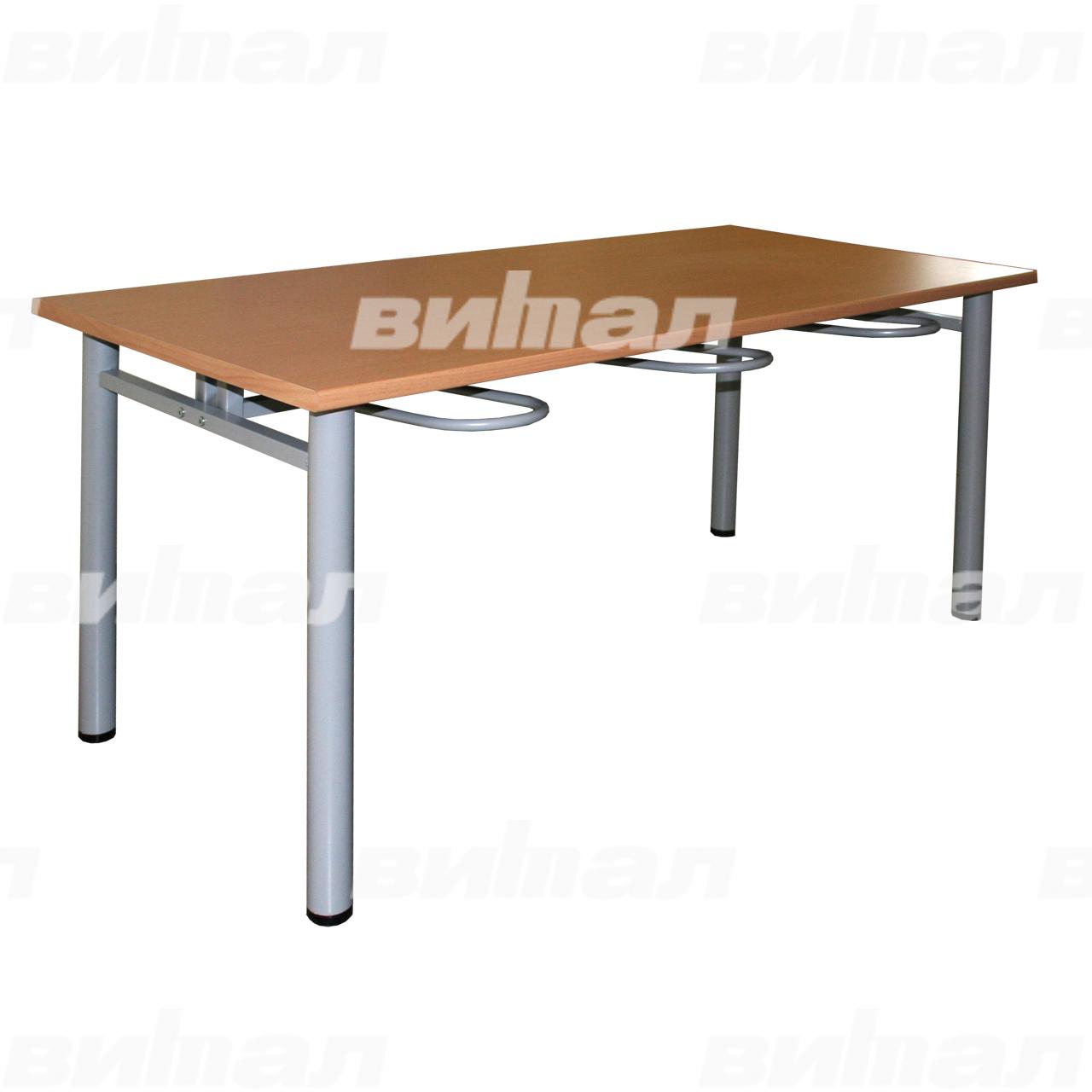 Стол обеденный шестиместный с универсальными кронштейнами