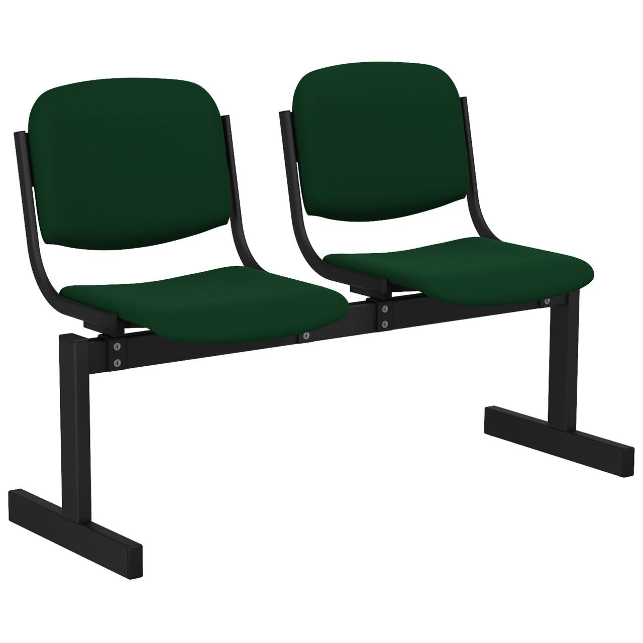 2-местный, не откидывающиеся сиденья, мягкий черный зеленый Флок