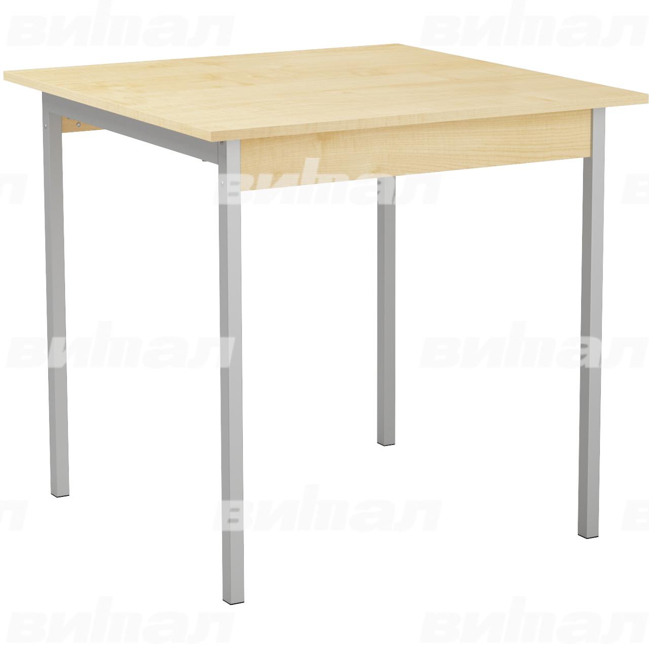 Стол для столовой для 4 табуретов серый Клен Пластик