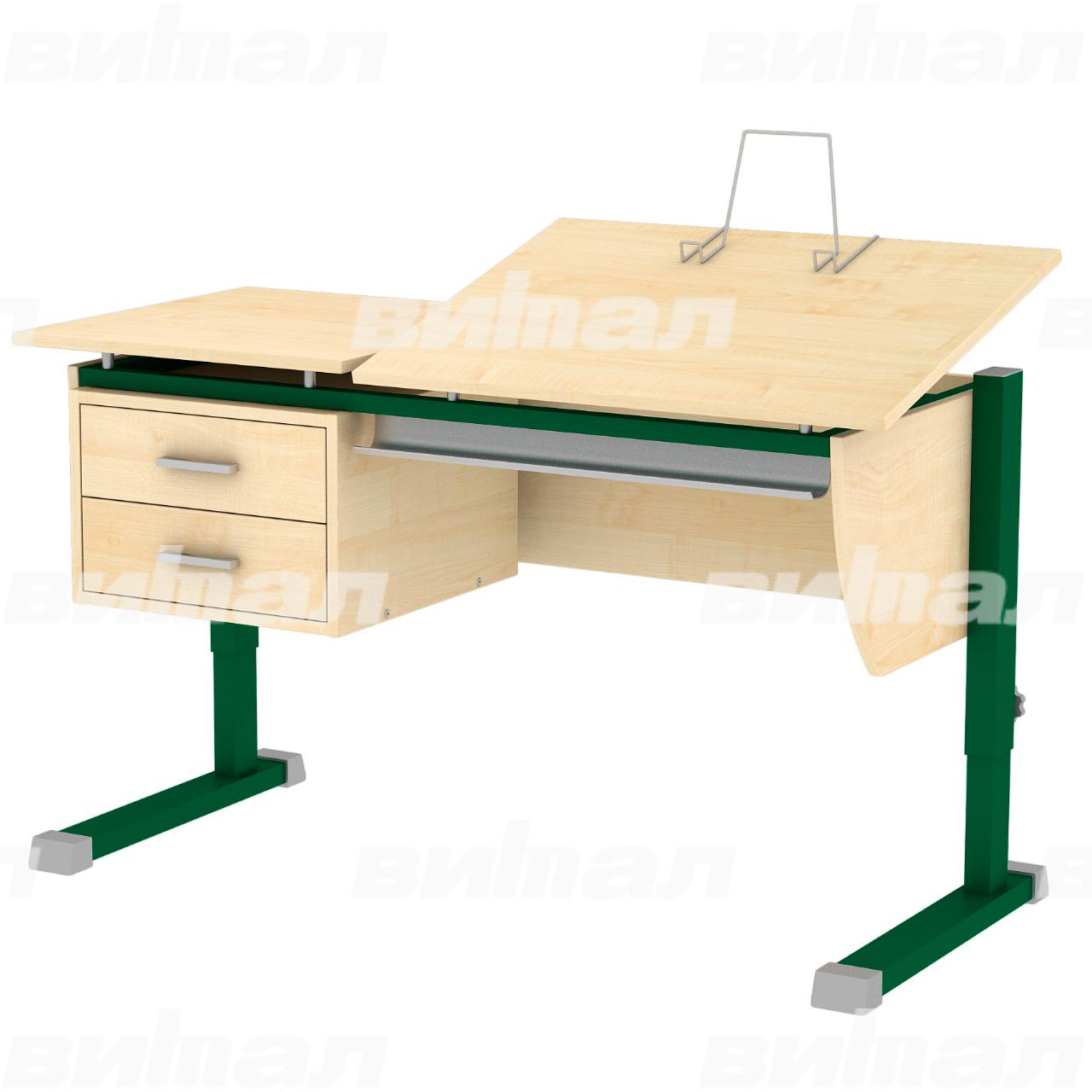 Стол ученический «Осанка 120ТТ» зеленый Клен 2-7 ЛДСП