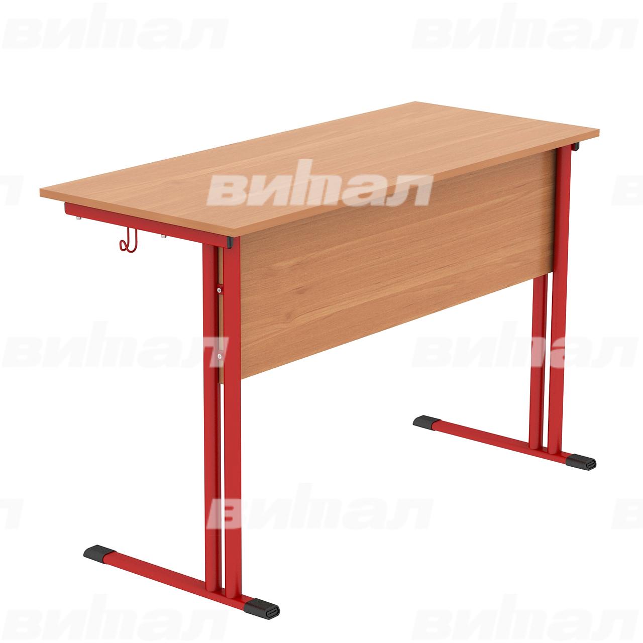 Стол ученический 2-местный (гр. 4,5,6) красный Ольха 6 Меламин
