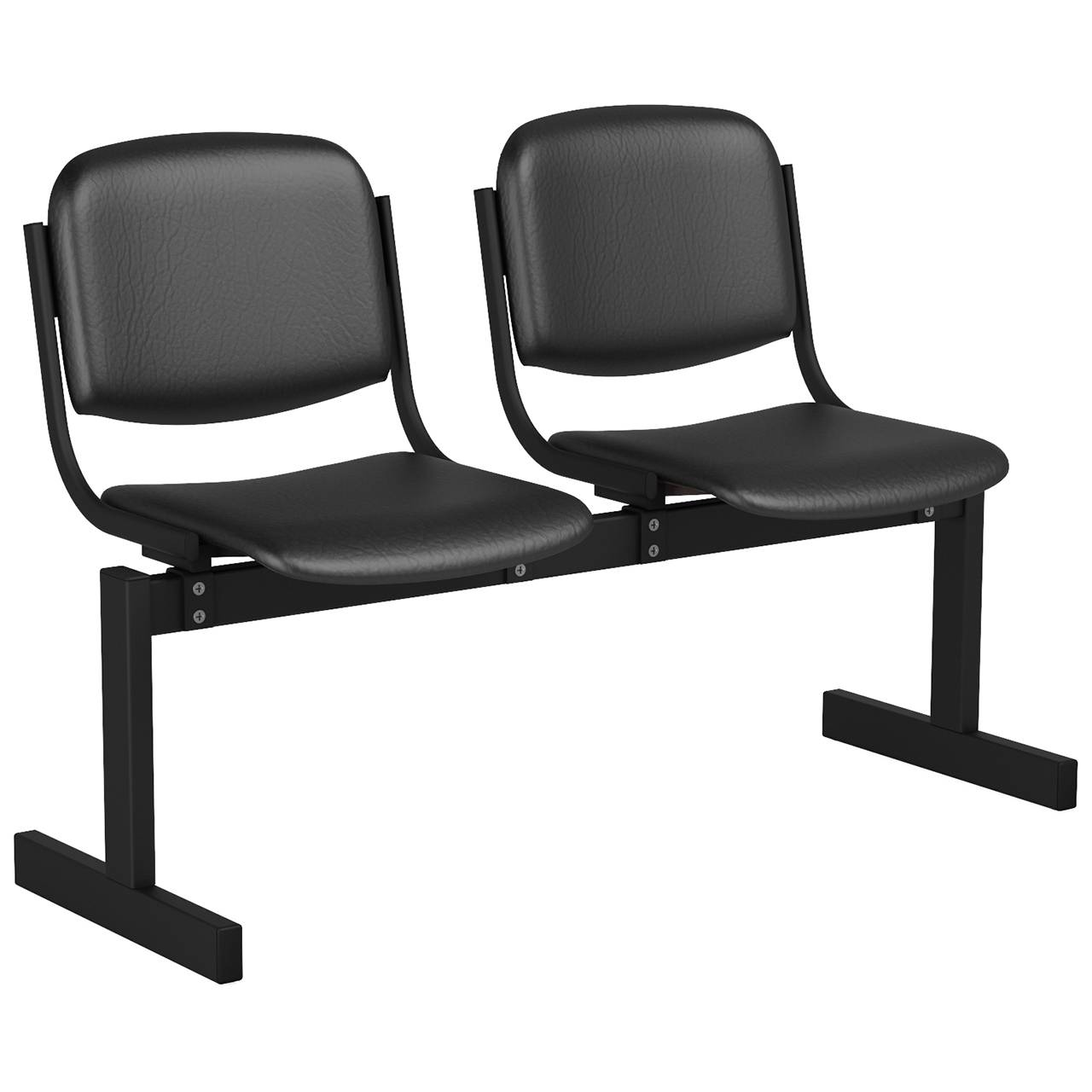 2-местный, не откидывающиеся сиденья, мягкий черный черный Кожзаменитель