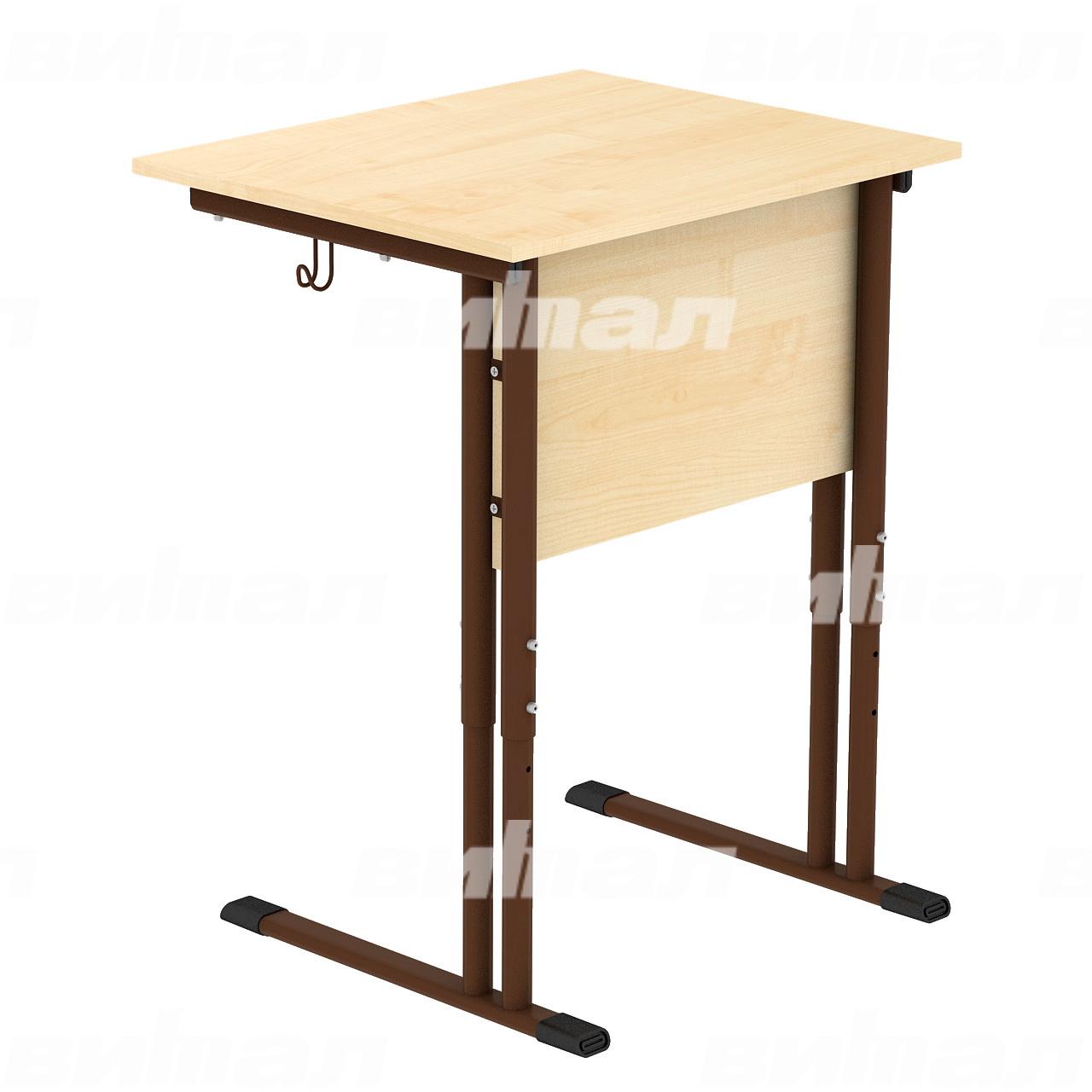 Стол ученический 1-местный регулируемый гр. 4-6 коричневый Клен 4-6 Пластик