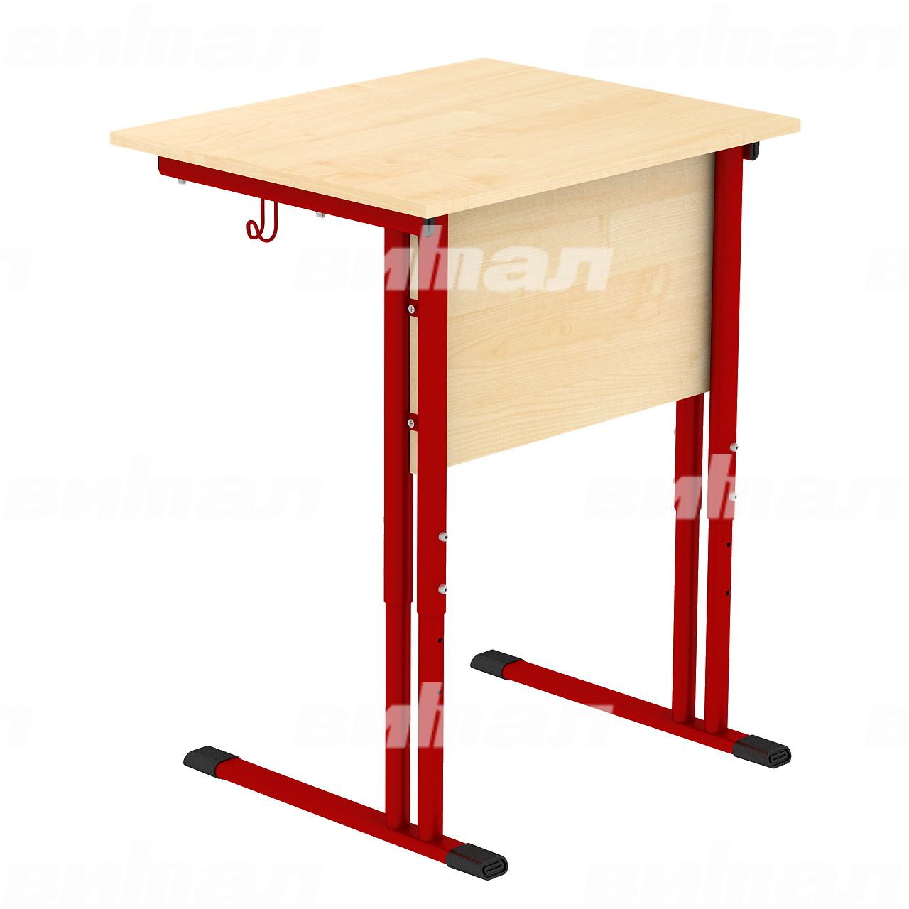 Стол ученический 1-местный регулируемый гр. 4-6 красный Клен 4-6 Пластик