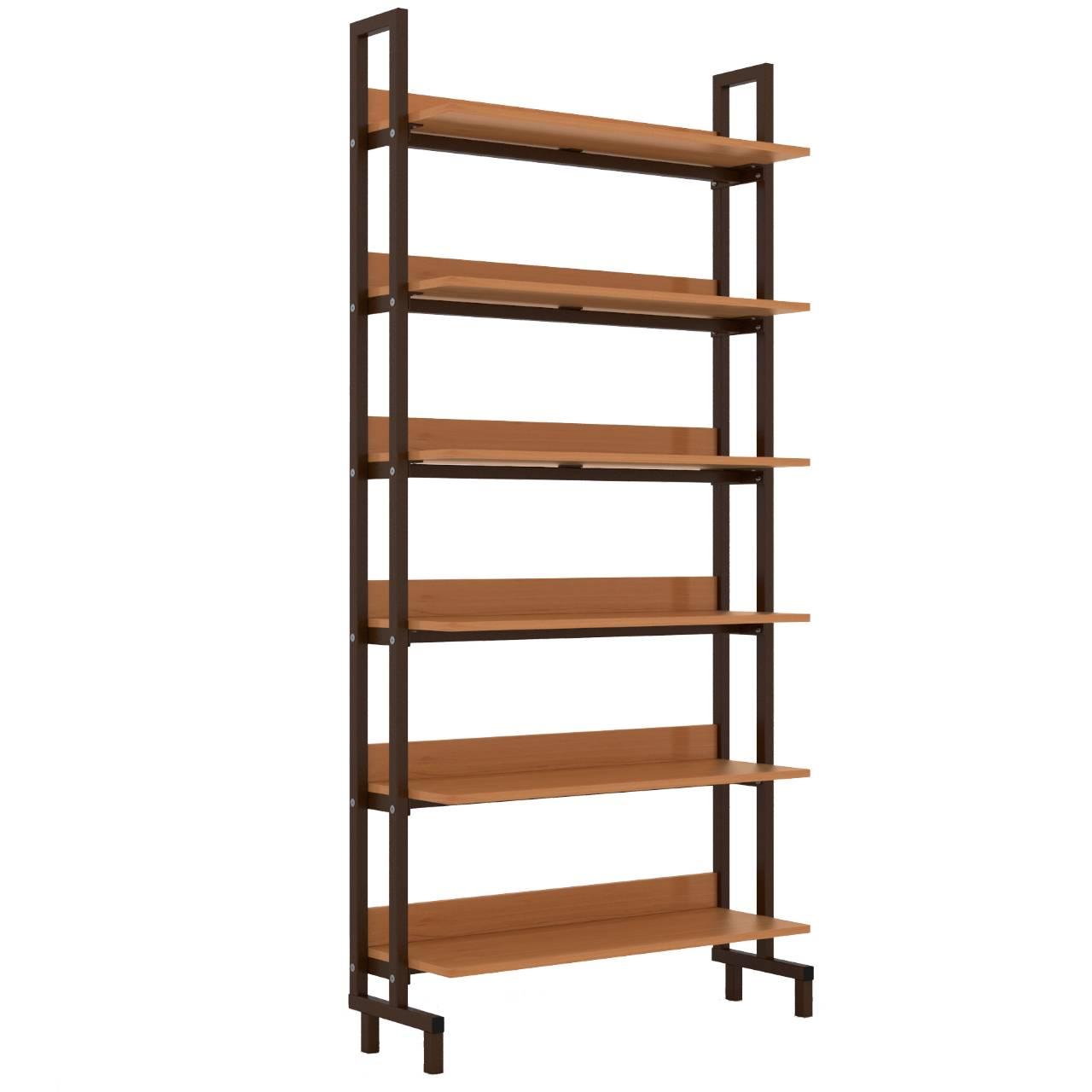 Стеллаж библиотечный 1-сторонний коричневый Ольха Меламин