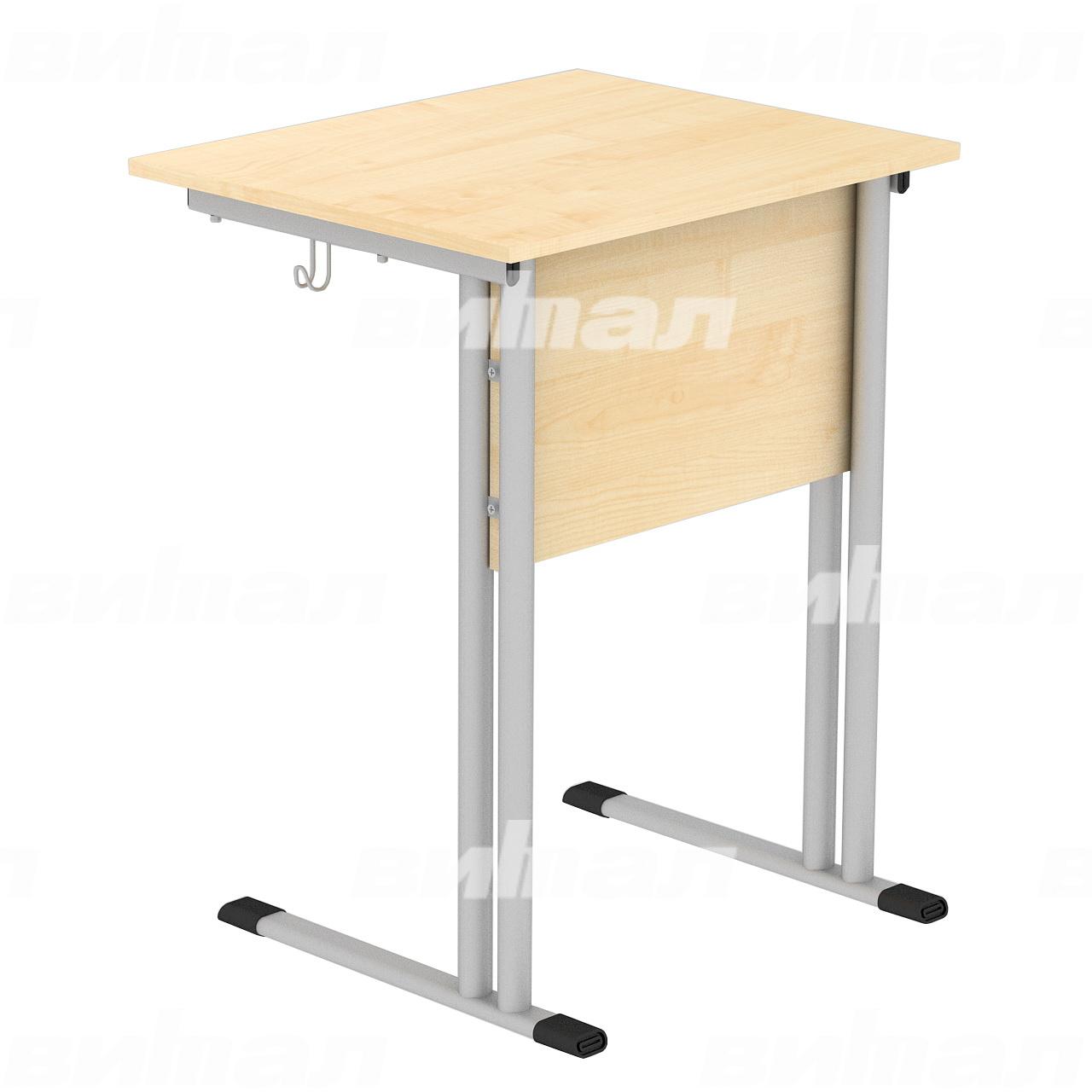 Стол ученический 1-местный (гр. 4,5,6) серый Клен 6 Пластик
