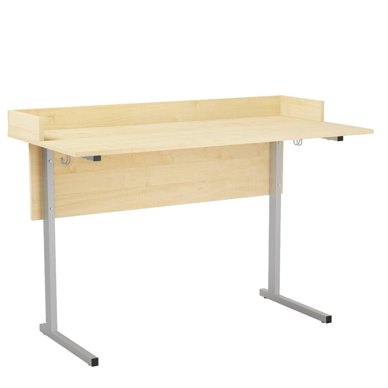 Стол ученический лабораторный с бортиком (гр. 5,6) серый Клен 5 Пластик