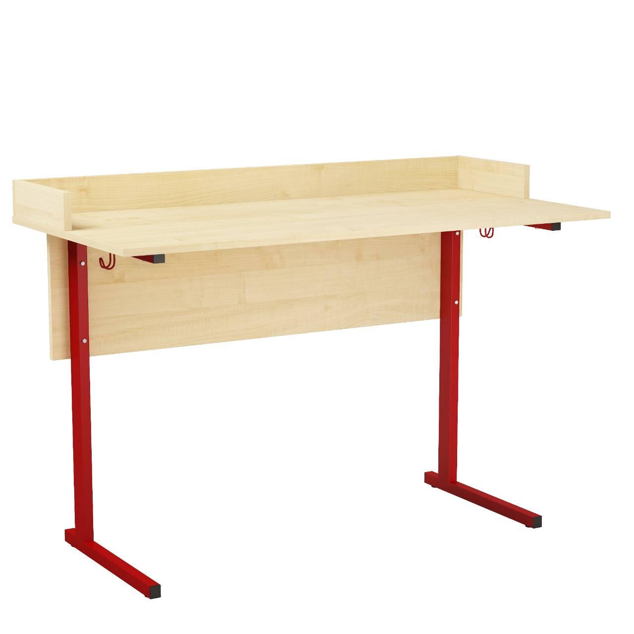Стол ученический лабораторный с бортиком (гр. 5,6) красный Клен 5 Пластик