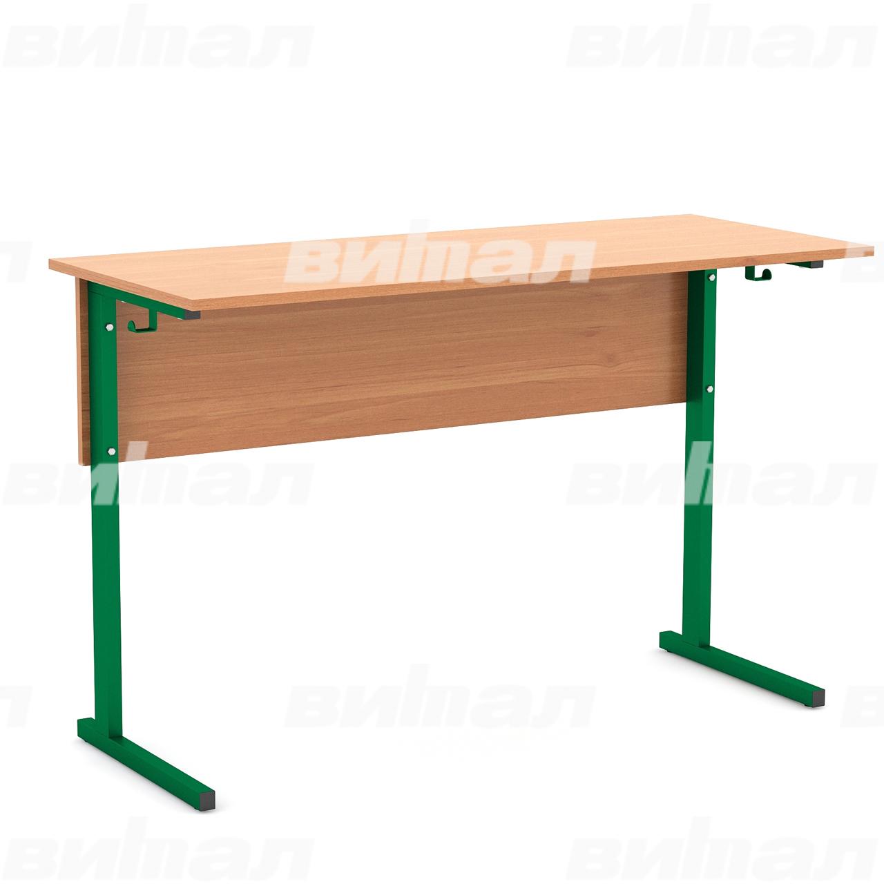 Стол ученический 2-местный (гр. 2,3,4,5,6) зеленый Ольха 5 Меламин