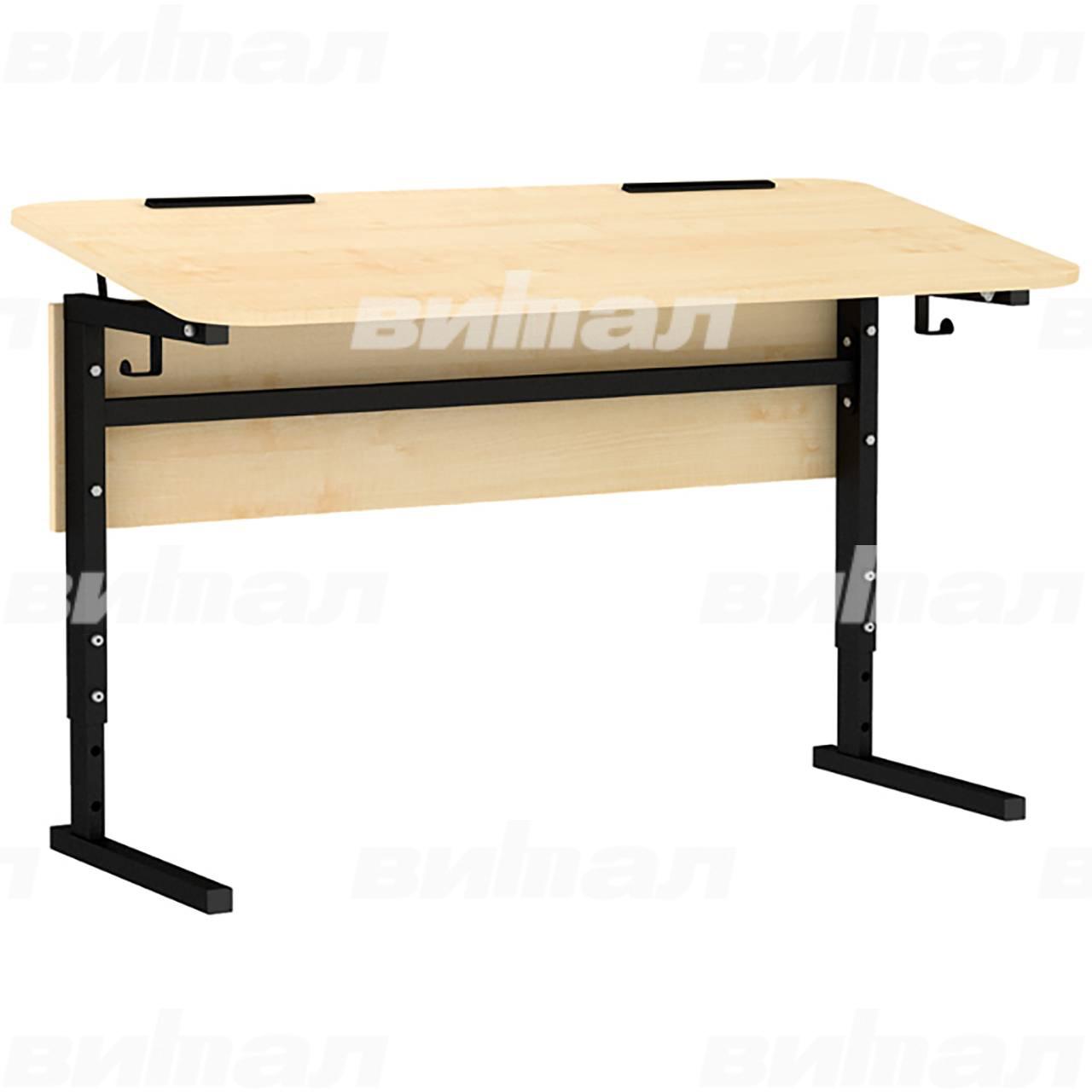 Стол 2-местный регулир. высота и наклон столешницы 0-10° (гр 2-4 или 4-6)