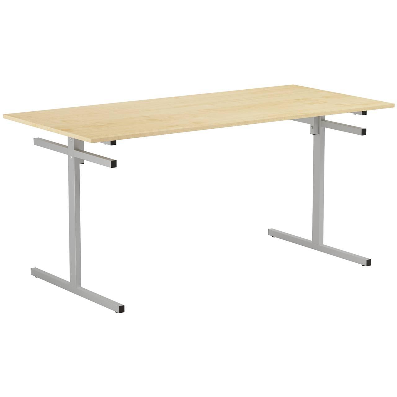 Стол для столовой 6-местный для скамеек (гр. 5,6) серый Клен 6 Пластик