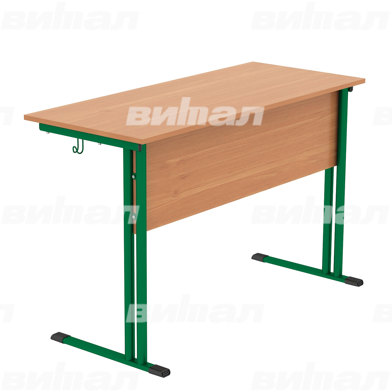 Стол ученический 2-местный (гр. 4,5,6) зеленый Бук 5 Пластик