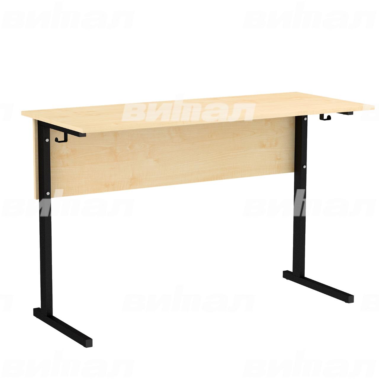 Стол ученический лабораторный без бортиков (гр. 5,6) черный Клен 6 Пластик