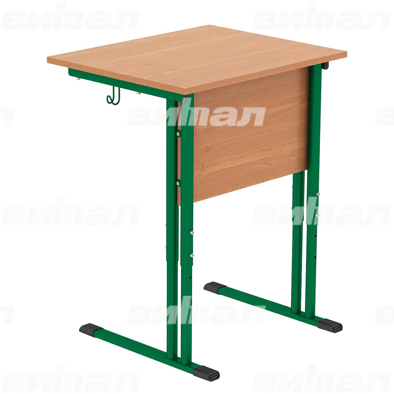 Стол ученический 1-местный регулируемый гр. 4-6 зеленый Ольха 4-6 Меламин