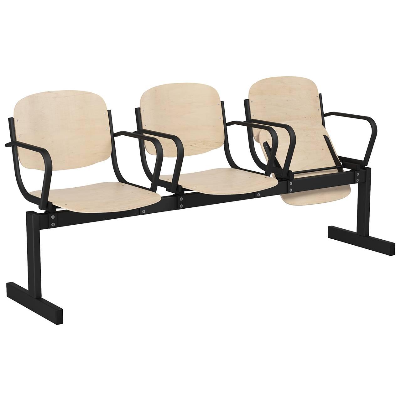 3-местный, откидывающиеся сиденья, подлокотники