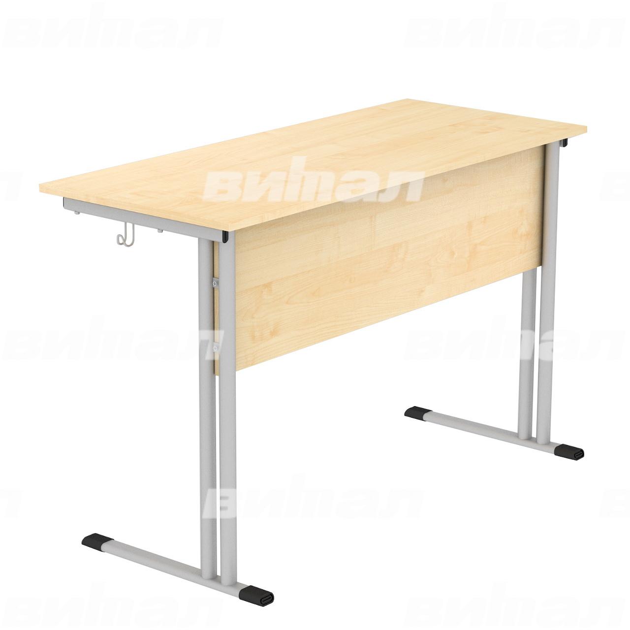 Стол ученический 2-местный (гр. 4,5,6) серый Клен 4 Пластик
