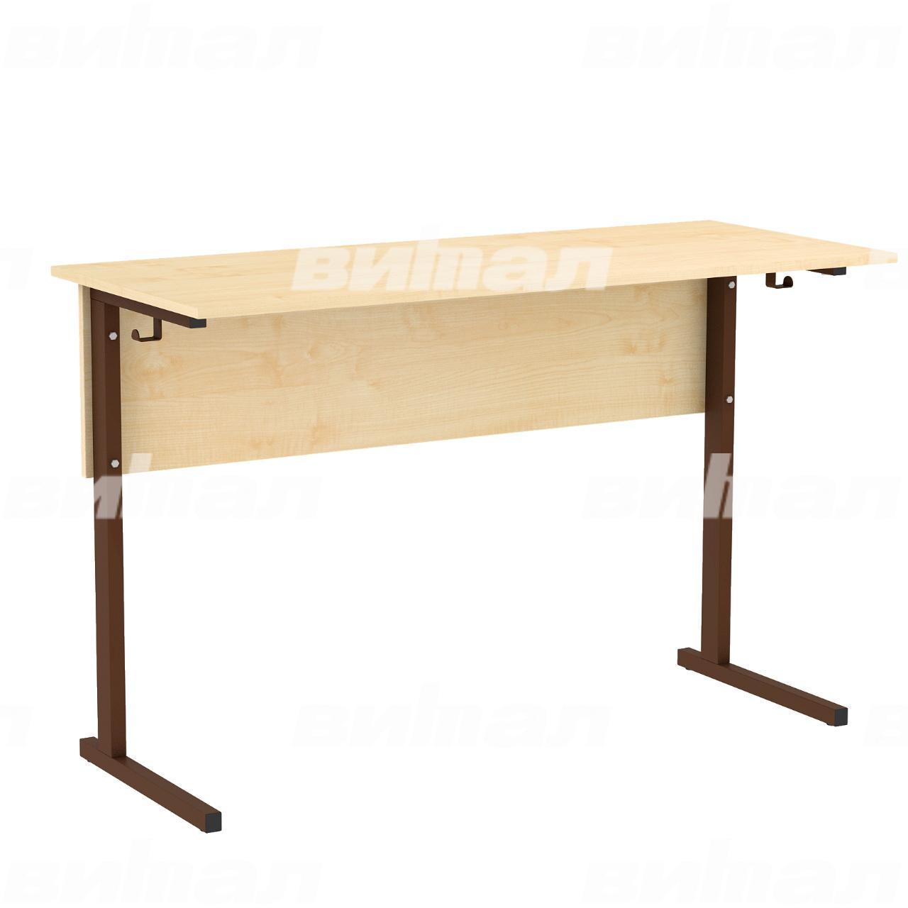 Стол ученический лабораторный без бортиков (гр. 5,6) коричневый Клен 6 Пластик
