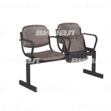 2-местный, откидывающиеся сиденья, мягкий, подлокотники