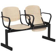 2-местный, откидывающиеся сиденья, с подлокотниками