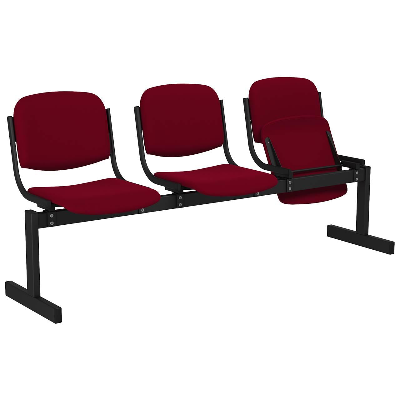 3-местный, откидывающиеся сиденья, мягкий черный бордо Флок