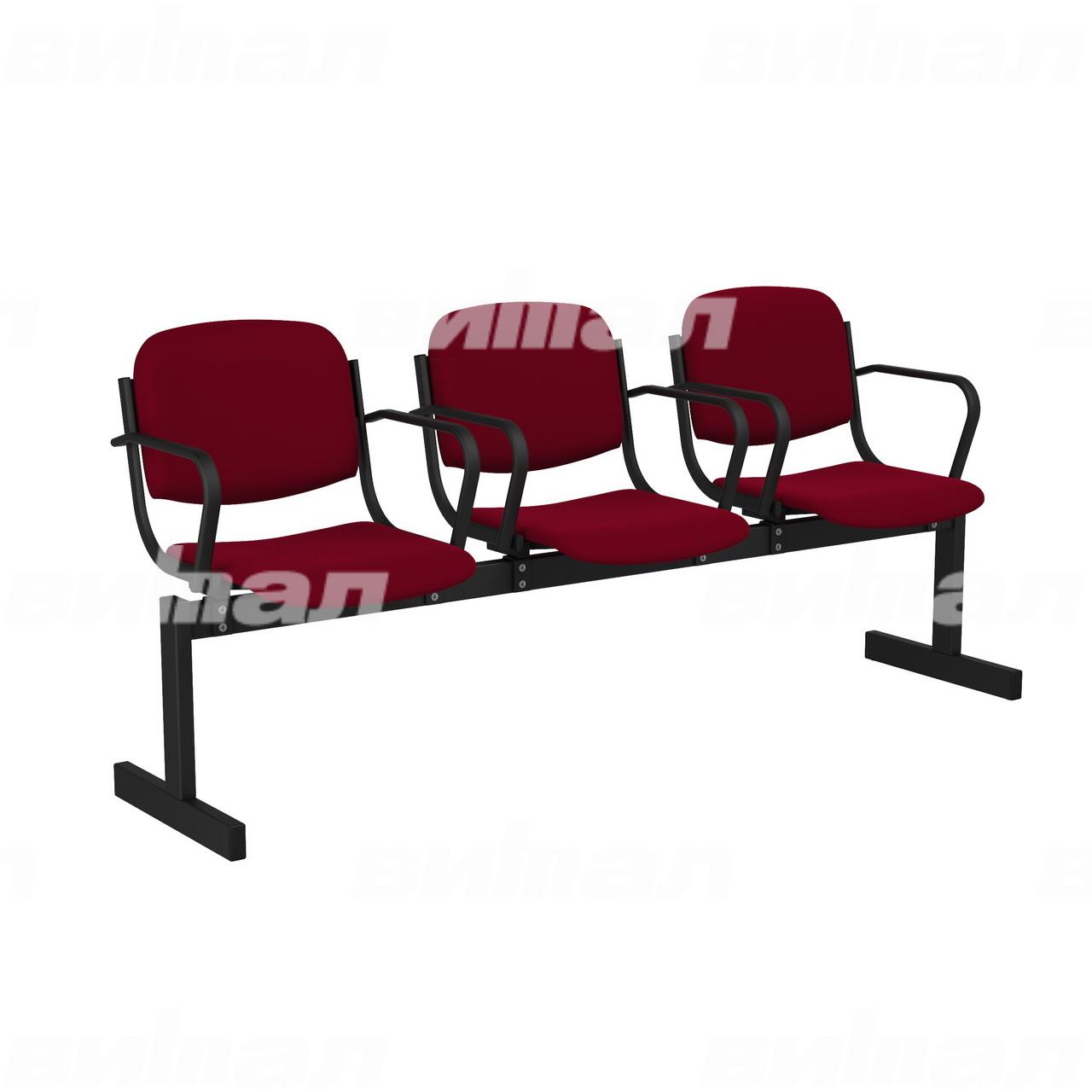 3-местный, не откидывающиеся сиденья, мягкий, подлокотники