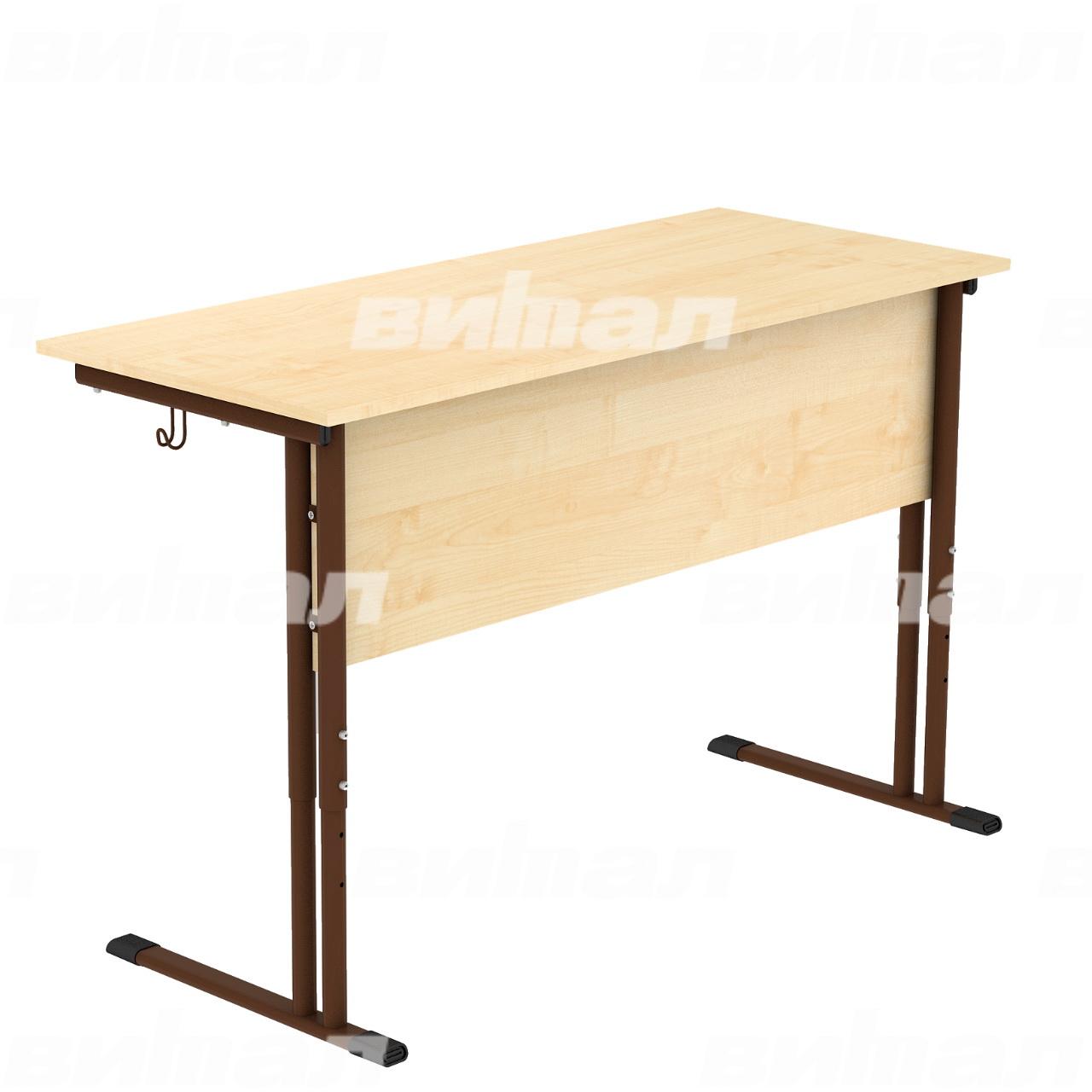 Стол ученический 2-местный регулируемый гр. 4-6 коричневый Клен 4-6 Пластик