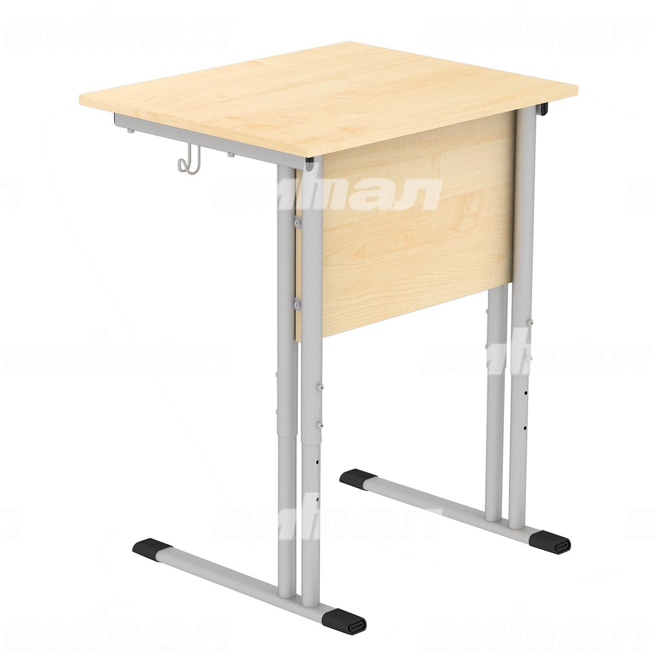 Стол ученический 1-местный регулируемый гр. 4-6 серый Клен 4-6 Пластик
