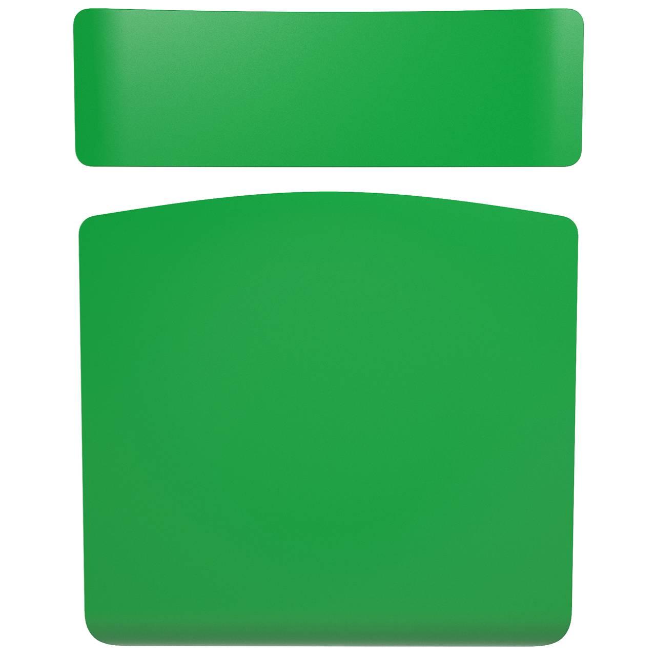 Комплект сиденье+спинка зелёный
