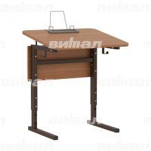 Стол 1-местный регулир. высота и наклон столешницы 0-10° (гр 2-4, 3-5 или 4-6)