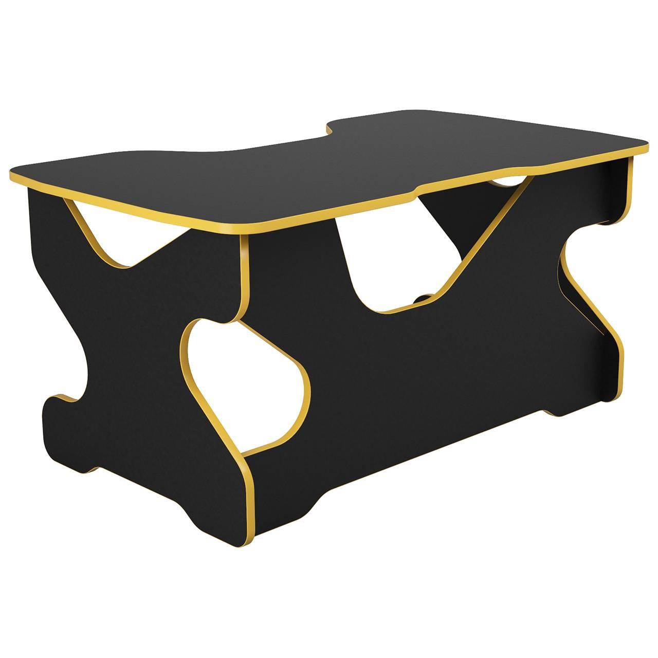 Компьютерный стол Райдер Жёлтый/Черный