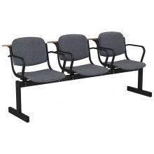 3-местный, не откидывающиеся сиденья, мягкий, подлокотники, лекционный