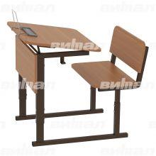 Парта ученическая 1-местная регулируемая по высоте и наклону столешницы 0-10° 3-5 или 4-6 гр.