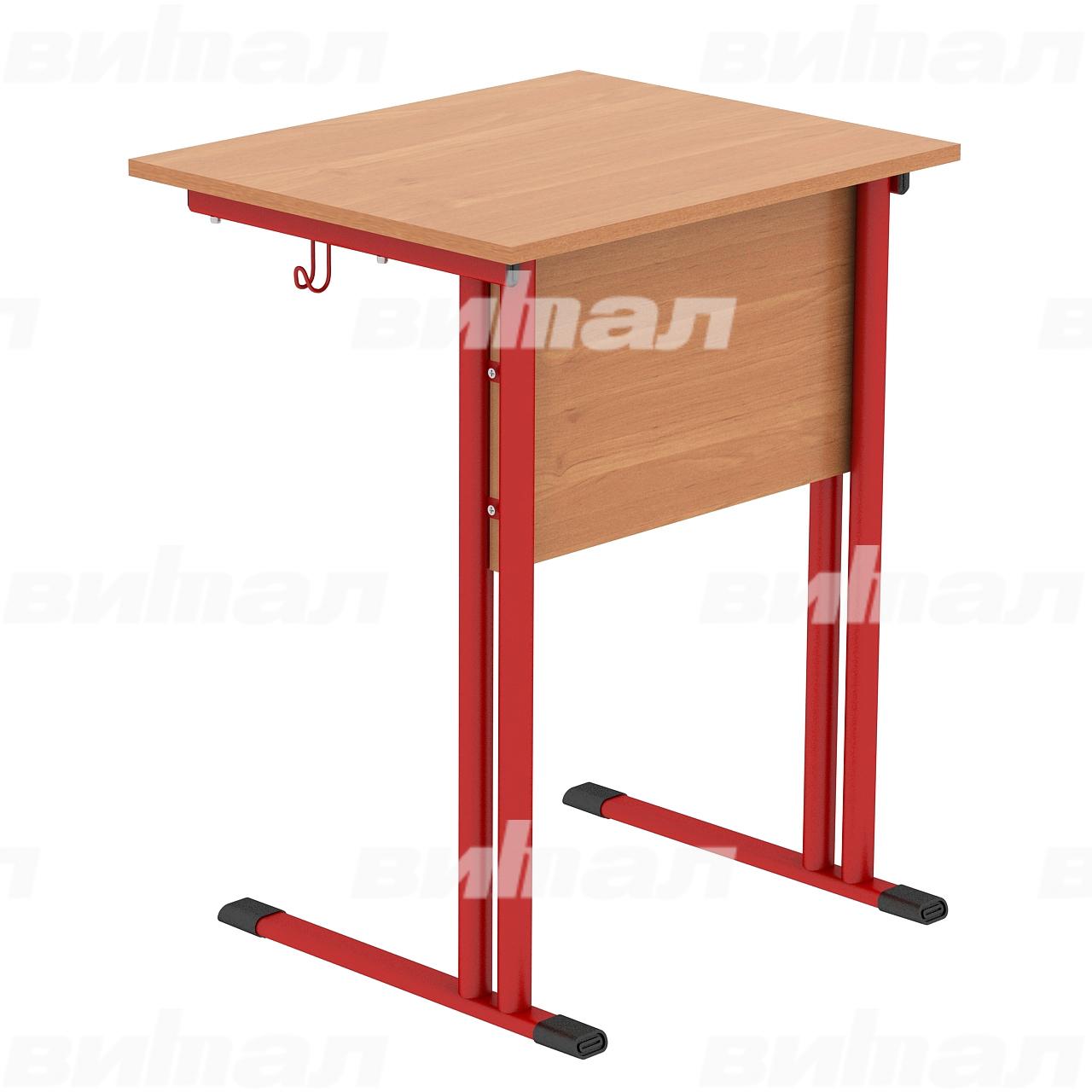 Стол ученический 1-местный (гр. 4,5,6) красный Ольха 5 Меламин