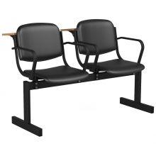 2-местный, не откидывающиеся сиденья, мягкий, подлокотники, лекционный