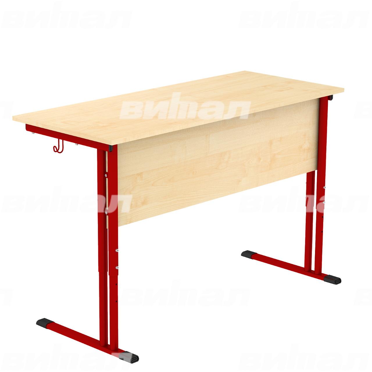 Стол ученический 2-местный регулируемый гр. 4-6 красный Клен 4-6 Пластик