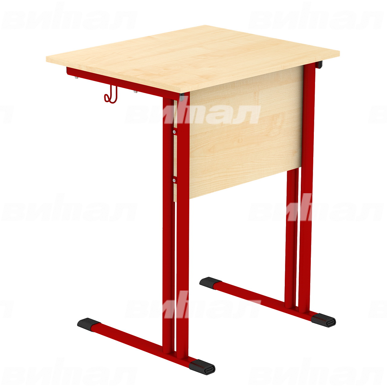Стол ученический 1-местный (гр. 4,5,6) красный Клен 6 Меламин