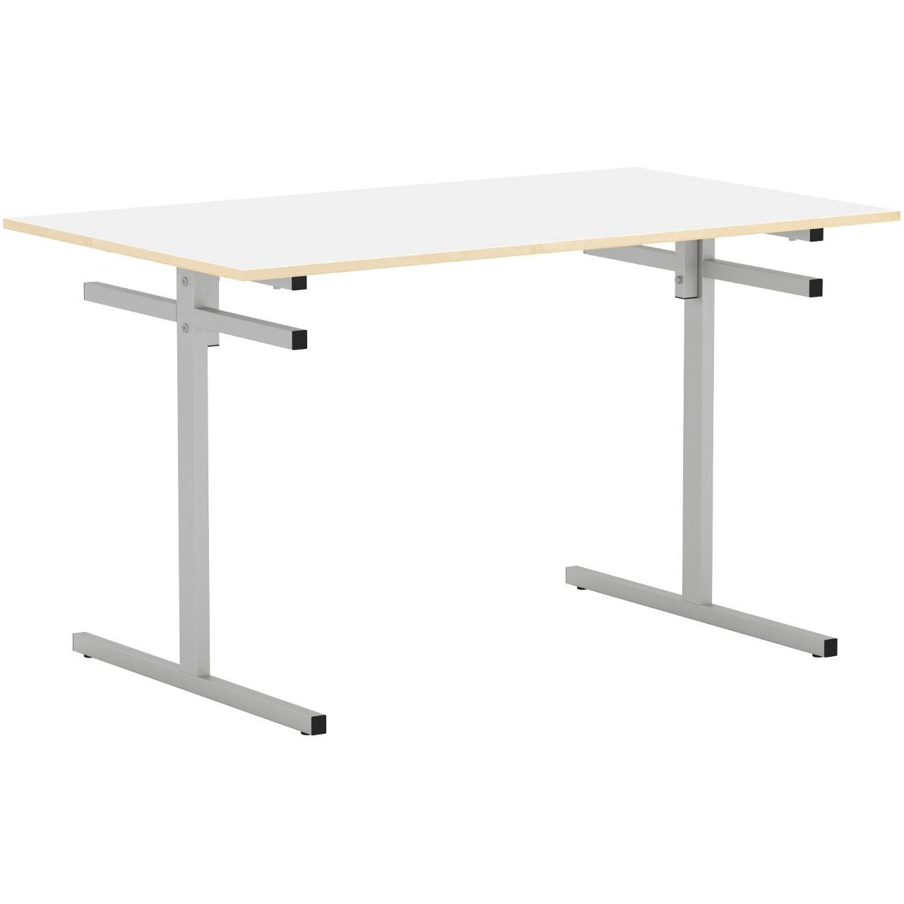 Стол для столовой 4-местный для скамеек (гр. 5,6) серый Белый 6 Пластик