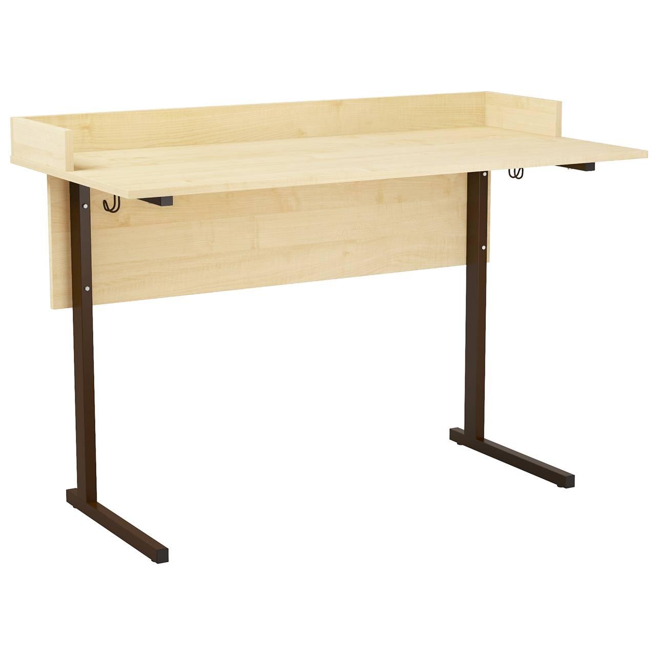 Стол ученический лабораторный с бортиком (гр. 5,6) коричневый Клен 6 Пластик
