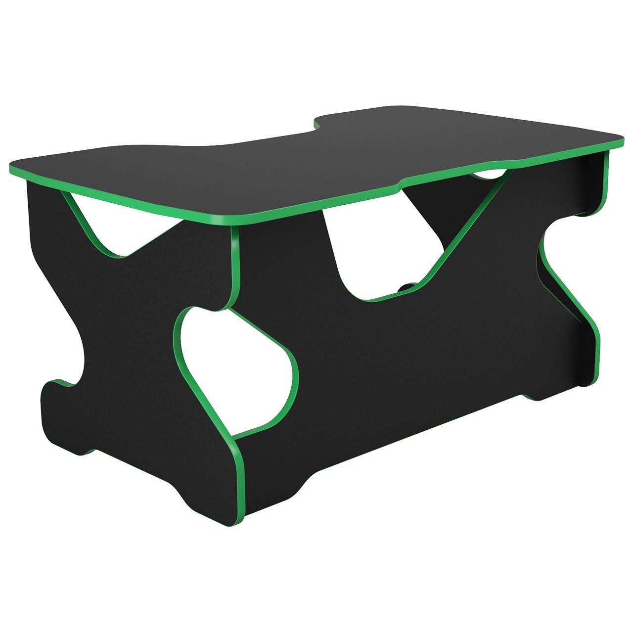 Компьютерный стол Райдер Зеленый/Черный