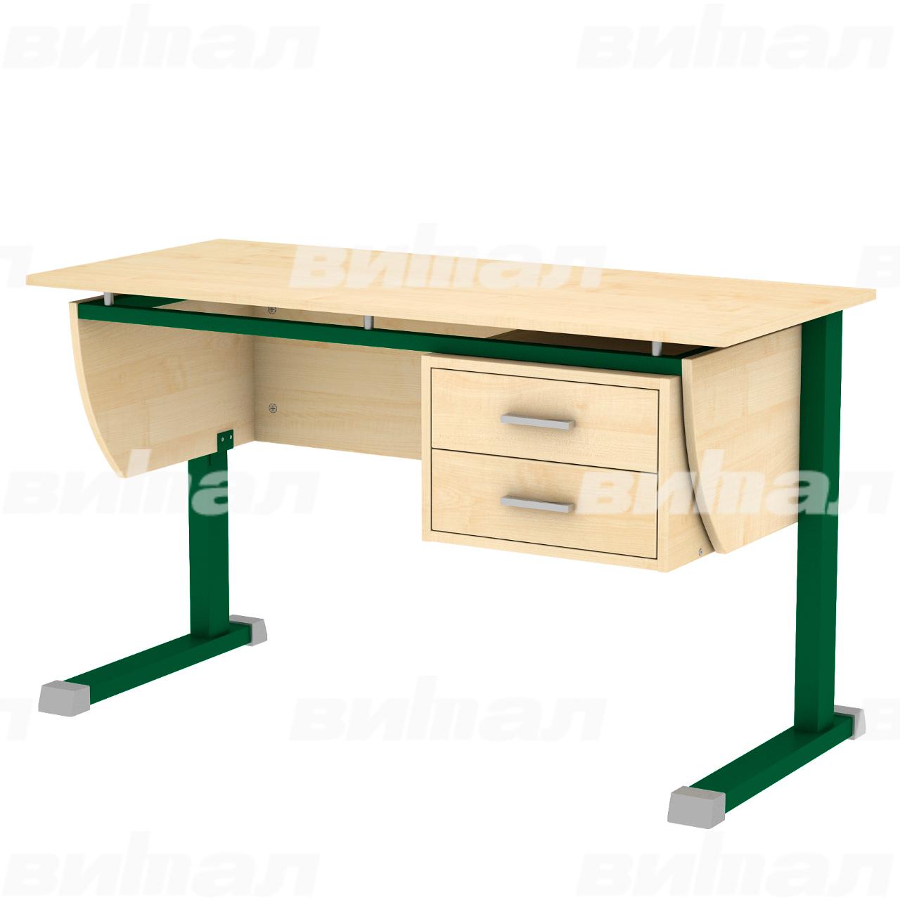"""Стол для преподавателя """"Осанка 120 СП"""" зеленый Клен 6 ЛДСП"""